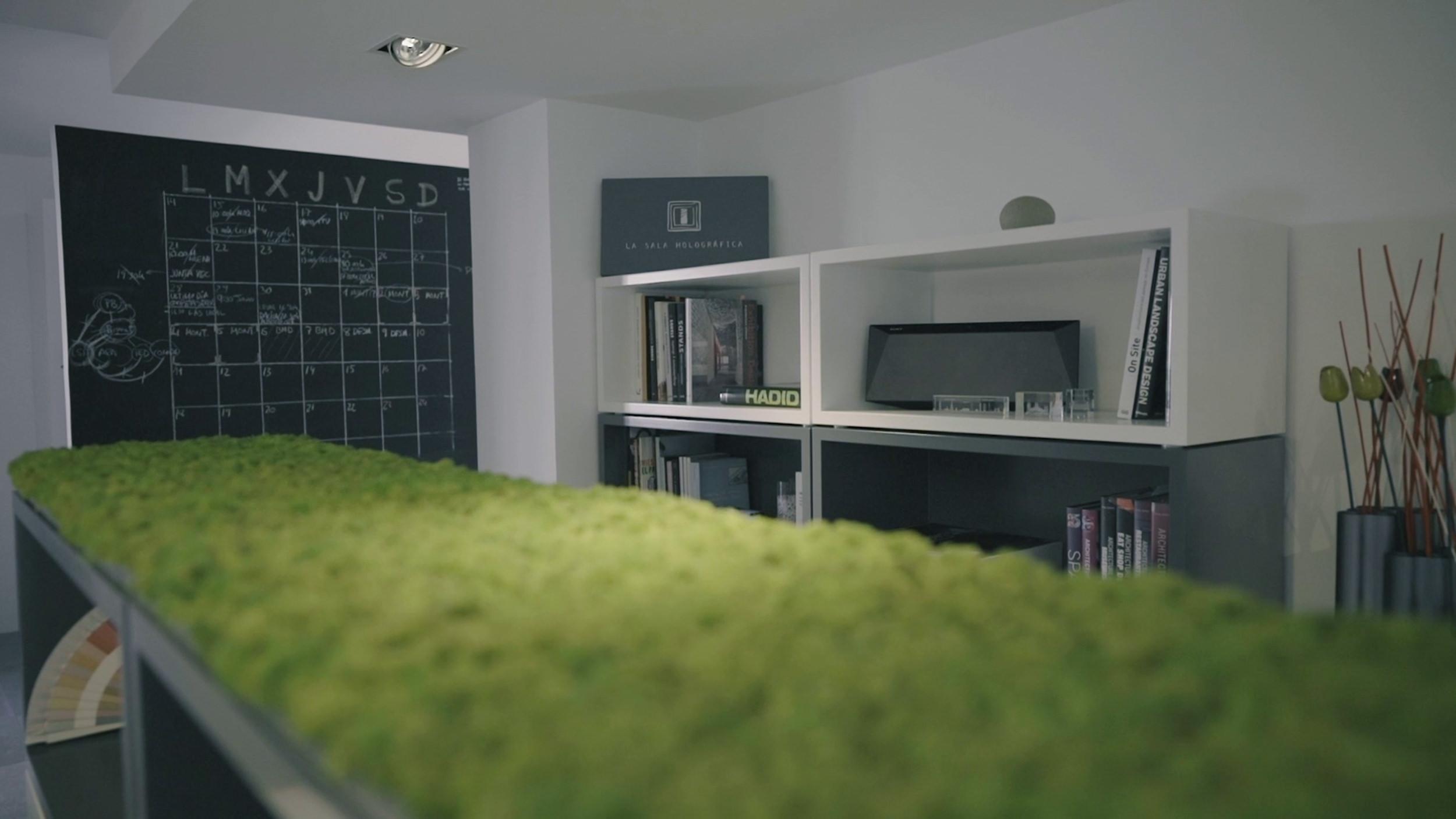 La Sala Holográfica, Interiorismo